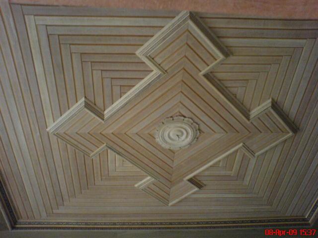 Plafon Rumah Bahan Kayu - Contoh gbr model plafond kayu jati minimalis