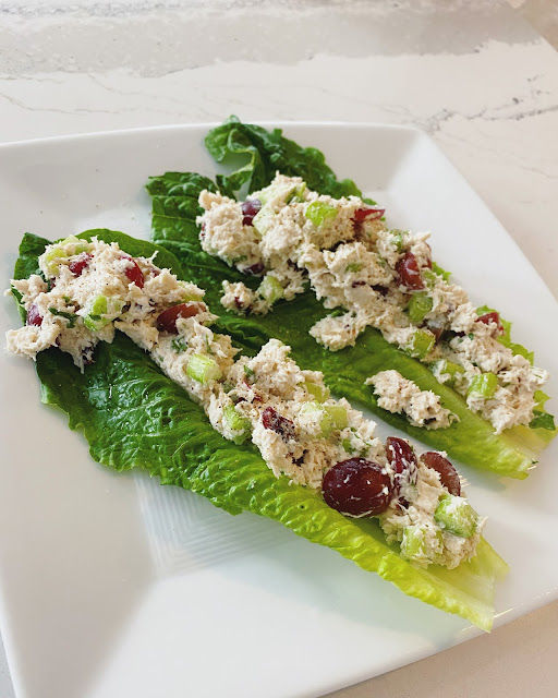 chicken salad lettuce wraps recipe with grapes