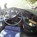 Het dashboard van de Mercedes Tourismo