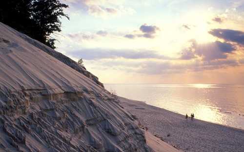 silver lake dunes at lake michigan