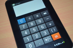 Calculator looks and function of Samsung Galaxy Tab 2