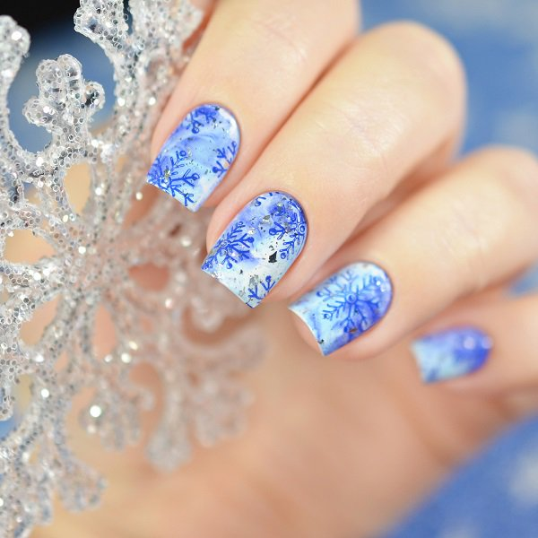 Top 50 Amazing Snow Nail Art Designs For Winter