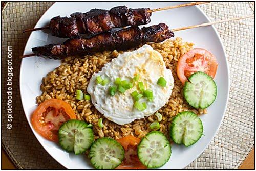 chicken satay, Indonesian