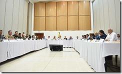 Un nuevo llamado a estar alerta frente a los efectos de la temporada invernal, hizo este sábado en Cali el Presidente Santos al finalizar la reunión del Comité Departamental de Riesgo.