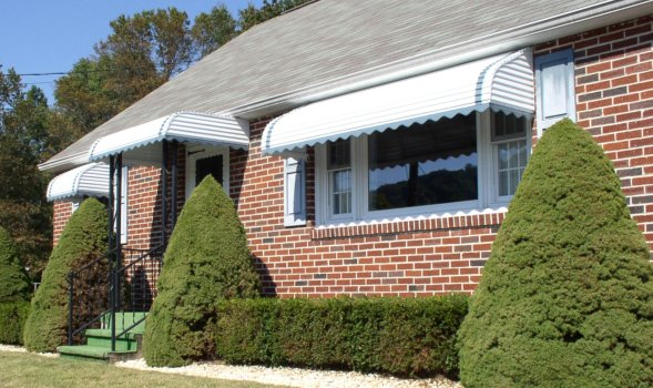Comfortable Living Is The Benefit With Added Beauty And Home Improvement Value Of Tri State Marquee Step Down Awnings