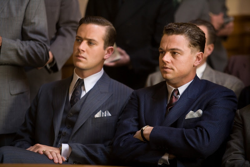 Armie Hammer stars as Clyde Tolson and Leonardo DiCaprio stars as J. Edgar Hoover in J. Edgar
