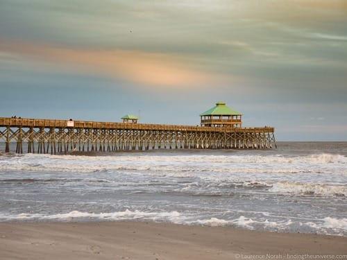 Pier Sunset Folly Beach Charleston
