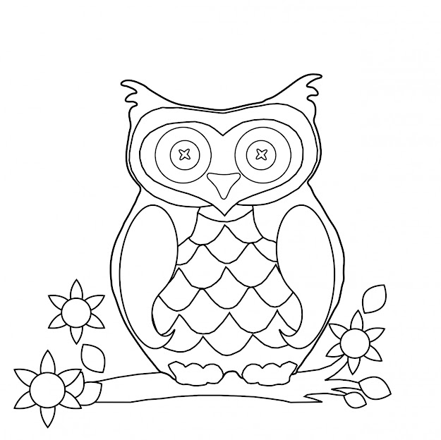 Cartoon Owl Coloring Pages Custom With Picture Of Cartoon Owl