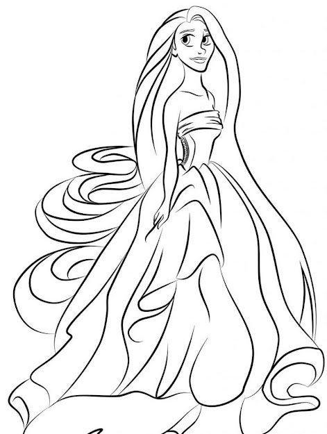 Coloring Pages  Rapunzel Coloring Pages Free Archives Free Coloring  Pages For Kids Rapunzel