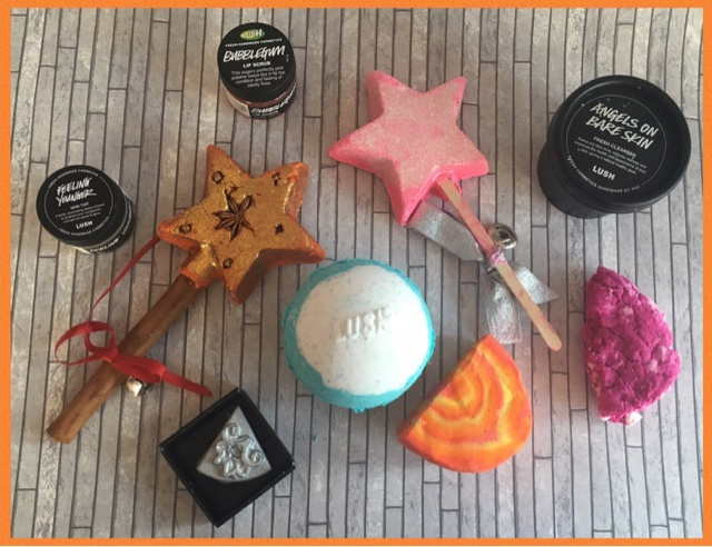 selection of lush products