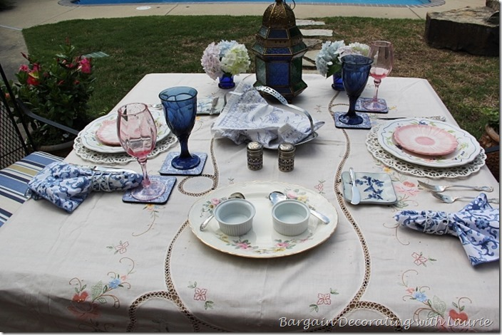 Floral Alfresco Tablescape