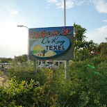 De Koog welcome sign on Texel in Texel, Noord Holland, Netherlands