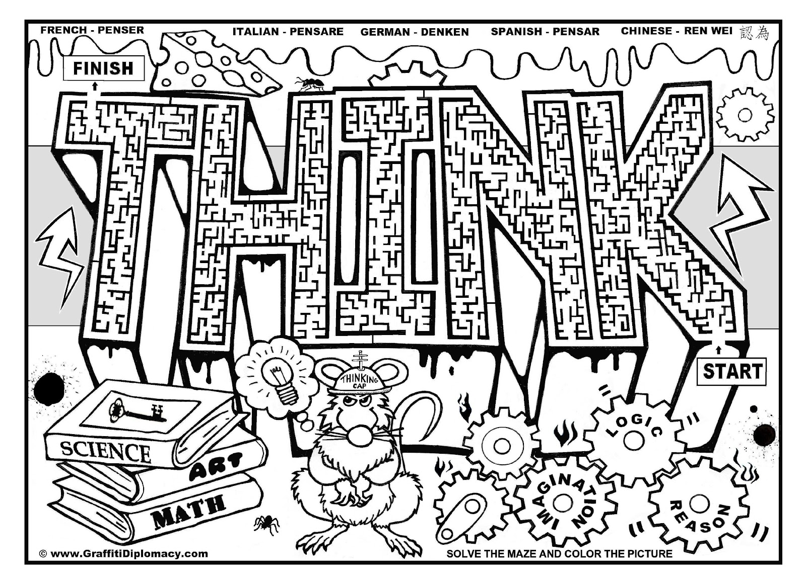 Top Graffiti Words Coloring Pages For Teenagers Photos - Kids ...