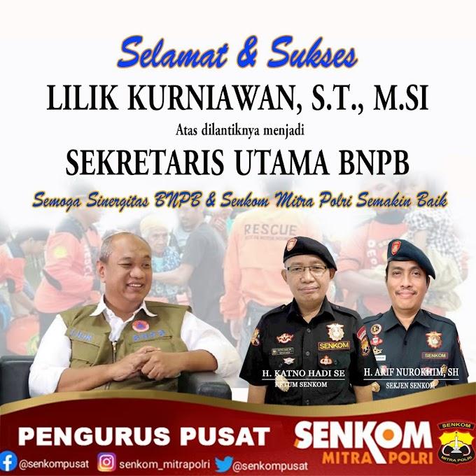 Lilik Kurniawan, S.T., M.Si. Resmi Menjabat Sekretaris Utama BNPB