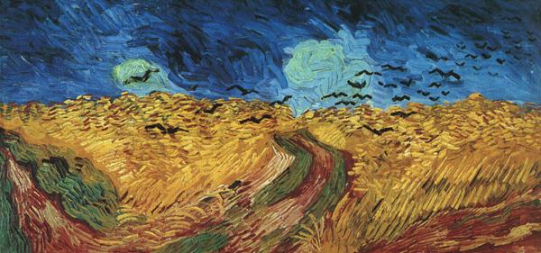 Campo de trigo y cuervos
