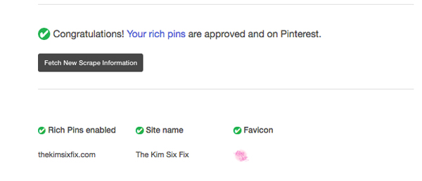 Approved Rich Pins on Blogger
