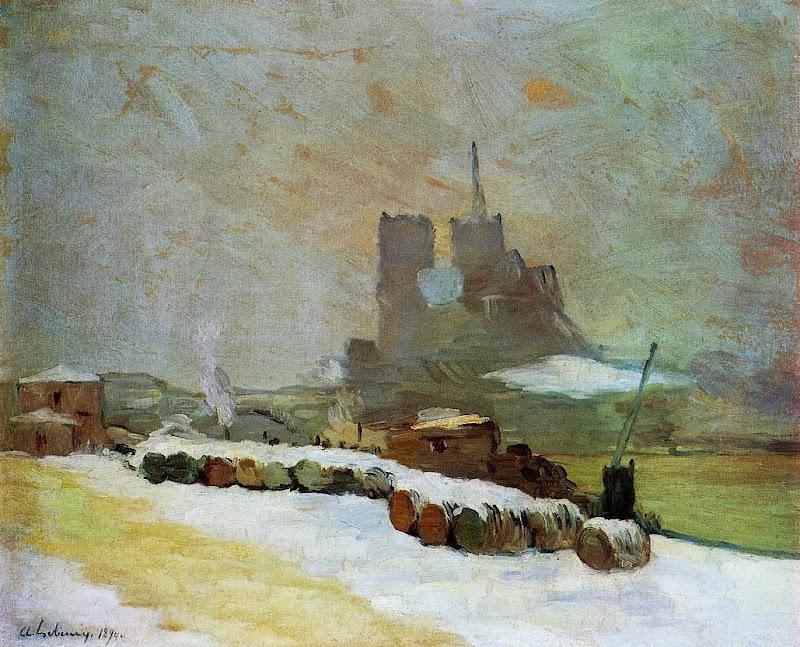 Albert Lebourg - View of Notre Dame, Winter