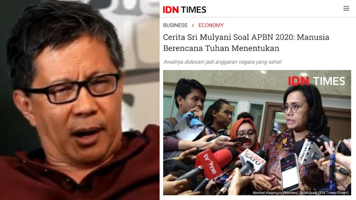 Tanggapi Pernyataan Sri Mulyani, Rocky Gerung: Seolah-olah Seperti Sedang Menyalahkan Tuhan