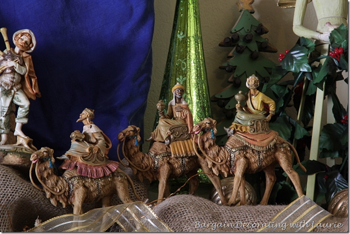 Fontanini Wise Men in Nativity on Christmas Mantel