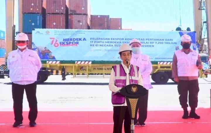 Presiden Lepas Ekspor Pertanian ke 61 Negara secara Virtual..