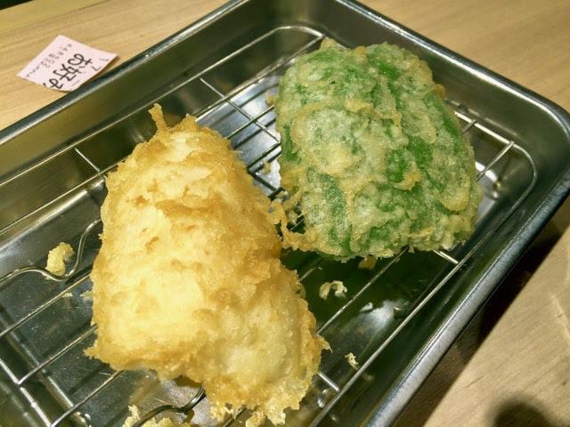 イカとピーマンの天ぷら