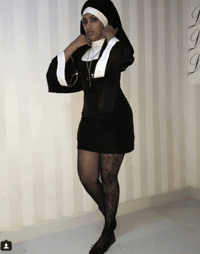"""Fake Christians"" – Juliet Ibrahim Fires Back At Fans Who Criticizes Her Sexy Nun Outfit"