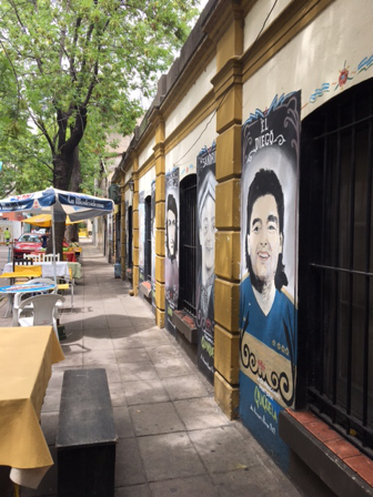 Buenos Aires. murals in La Boca neighbourhood