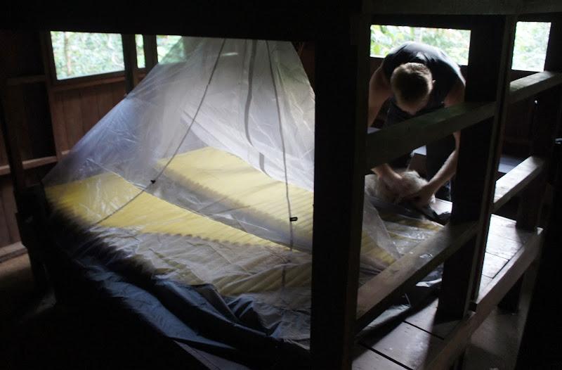 Unser Nachtquartier im Jungle-Hide (Bumbun Blau)