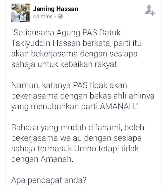 Kesian Pas Kelantan Tak Kisah