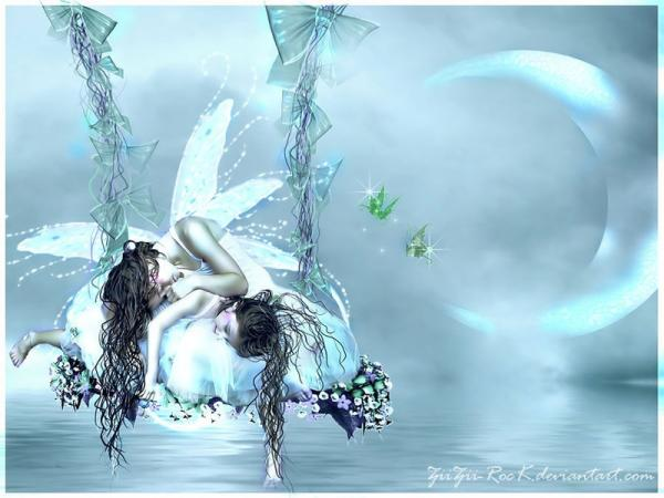 Two Sleeping Moon Fairies, Fairies Girls 2