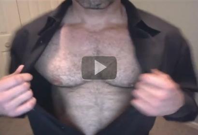 black hairy daddy bear