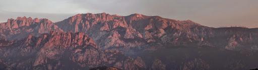 Bavella depuis le promontoire panoramique des bergeries de Renosu
