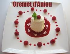 recette du Cremet d'Anjou au coulis de framboises