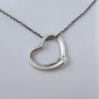 Tiffany & Co. X Elsa Peretti Sterling Silver Open Heart Pendant Necklace