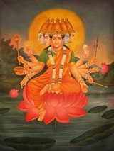 Goddess Gayatri Image