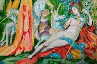 stady Gustave Moreau-The Unicorns