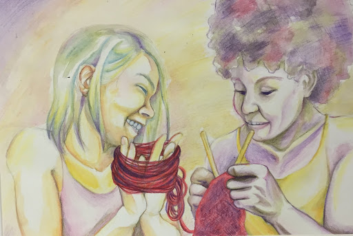 "2015 Sister Cities International Youth Art Prize Winner: ""Red Thread"" by Kianna Vallarde from Hampton, Virginia"