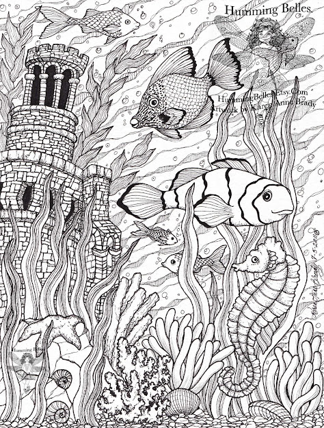 Intricate Coloring Pages For Adults   Humming Belles Coloring Pages  For Teenagersprintable