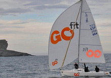 J/80 Go Fit sailing off Spain
