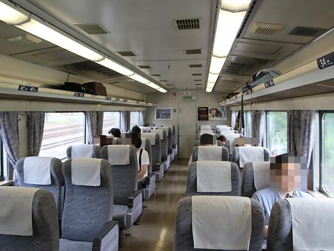 JR北海道 臨時特急「ヌプリ」 函館行き 車内