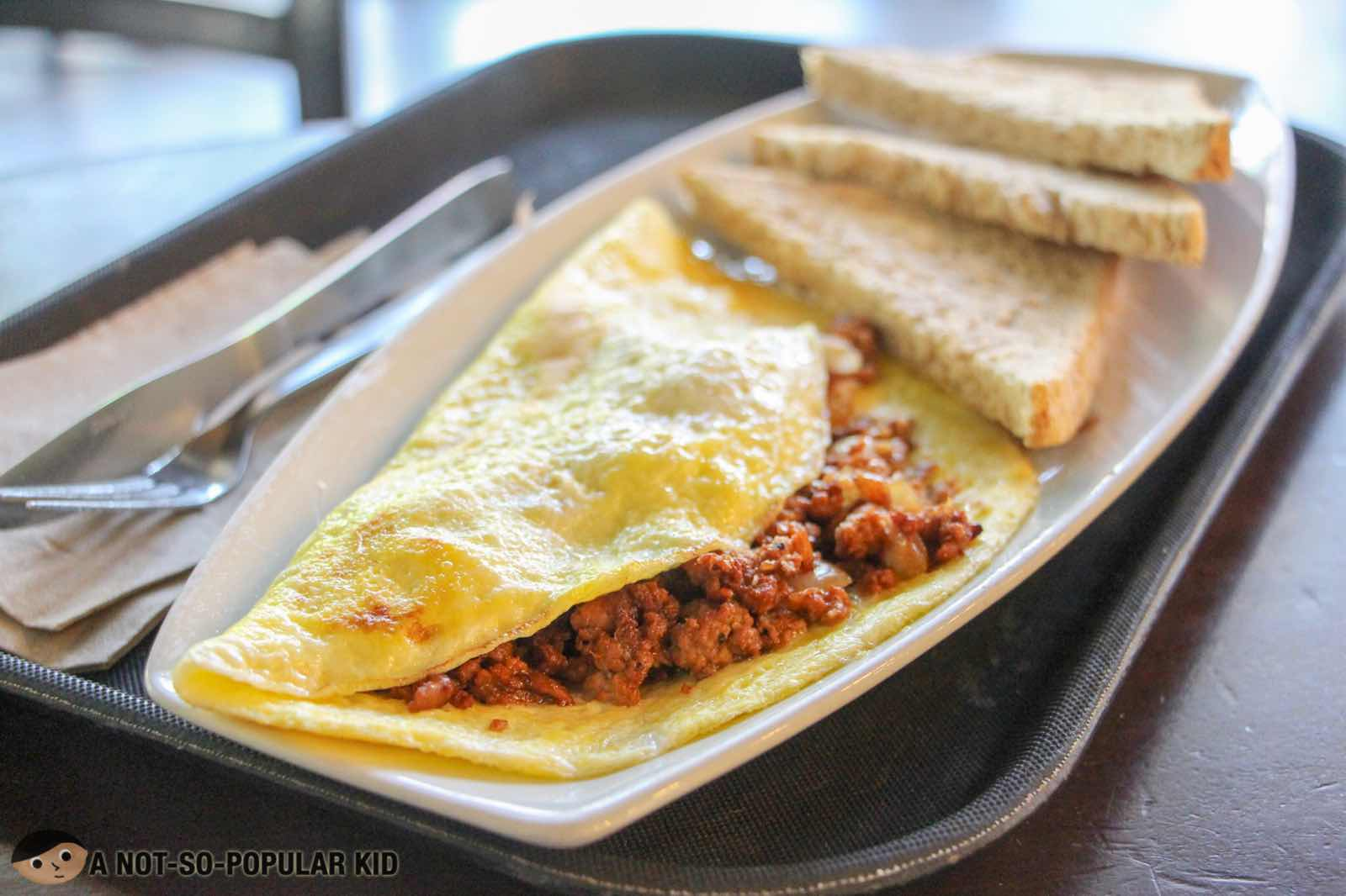 Vigan Longganisa Omelette of Bo's Coffee