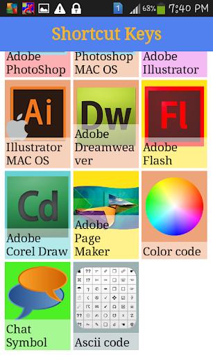 adobe illustrator mac shortcut keys