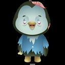 Pingüino Halloween - Muerto andante