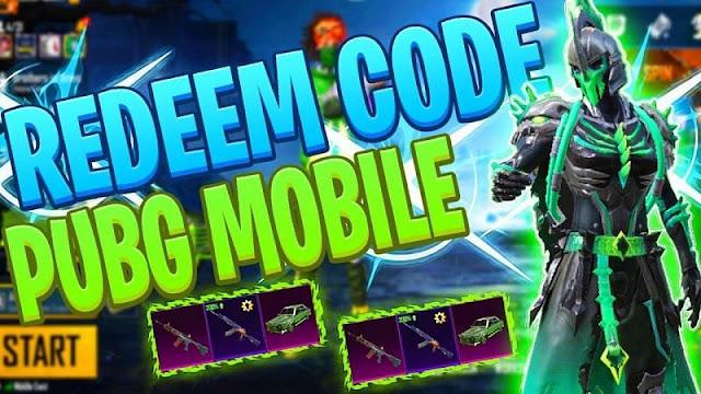 2020'de yayınlanan tüm PUBG Mobile Redeem kodlarının listesi