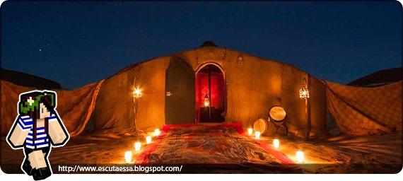 Tenda acampamento sheik
