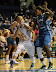 Courtney Vandersloot #22 passes while being guarded by Rebekkah Brunson #32 (WNBA:  Chicago Sky 83 vs. Minnesota Lynx 70, Allstate Arena, Rosemont, Illinois, September 11, 2012)