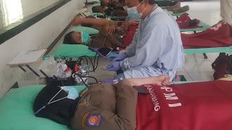 Gandeng PMI, Kodim 0604/Karawang Gelar Donor Darah Menyambut Hari Juang TNI-AD