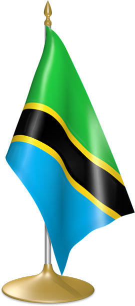 Tanzanian table flags - desk flags