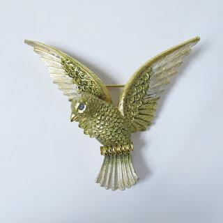 Joan Rivers Enamel Dove Pin