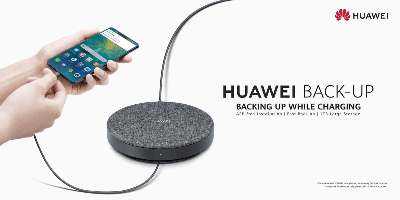 HUAWEI Back-Upอุปกรณ์คู่ใจชิ้นใหม่เพื่อเติมเต็มไลฟ์สไตล์มากขึ้น  หมดปัญหา!ไฟล์เยอะ เมมเต็ม เครื่องเดียวเอาอยู่